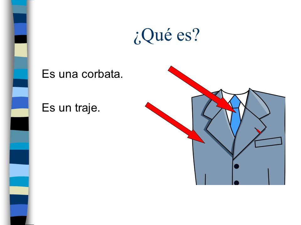 ¿Qué es? Es una corbata. Es un traje.