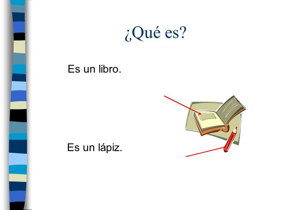 ¿Qué es Es un libro. Es un lápiz.