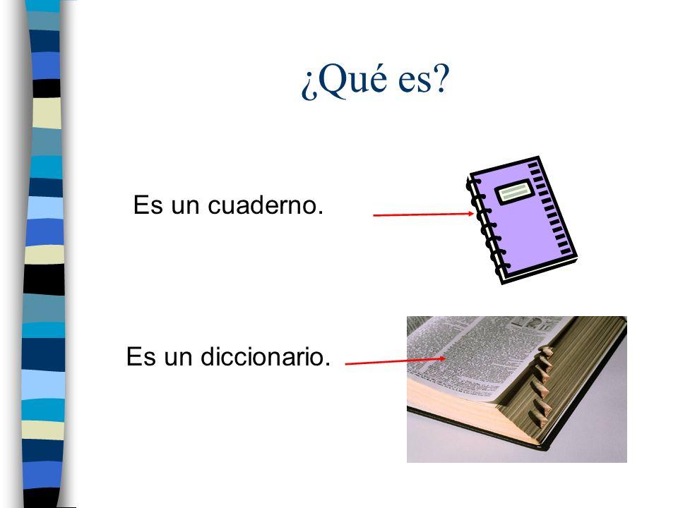 ¿Qué es Es un cuaderno. Es un diccionario.