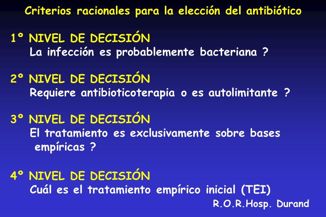5º NIVEL DE DECISIÓN Qué controles realizar para determinar el tiempo de tratamiento .