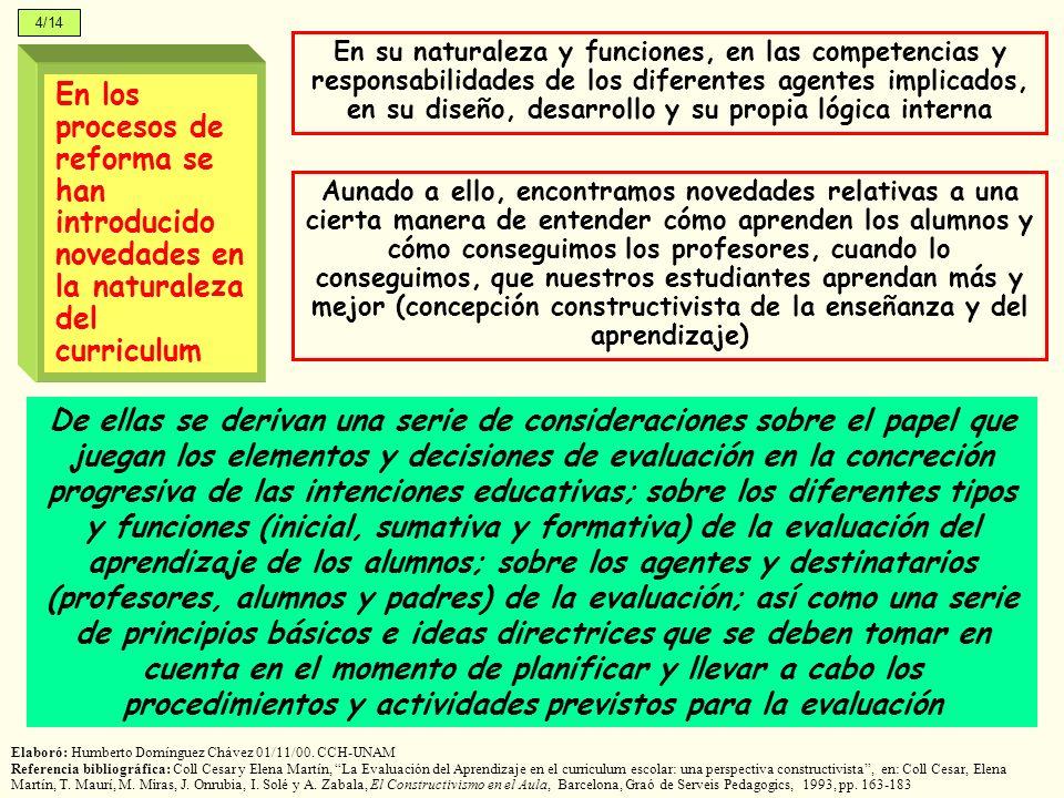 En los procesos de reforma se han introducido novedades en la naturaleza del curriculum En su naturaleza y funciones, en las competencias y responsabi
