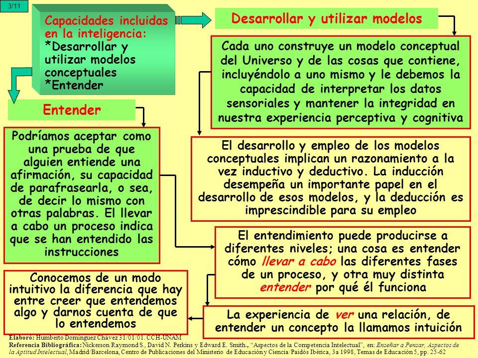 El desarrollo y empleo de los modelos conceptuales implican un razonamiento a la vez inductivo y deductivo. La inducción desempeña un importante papel