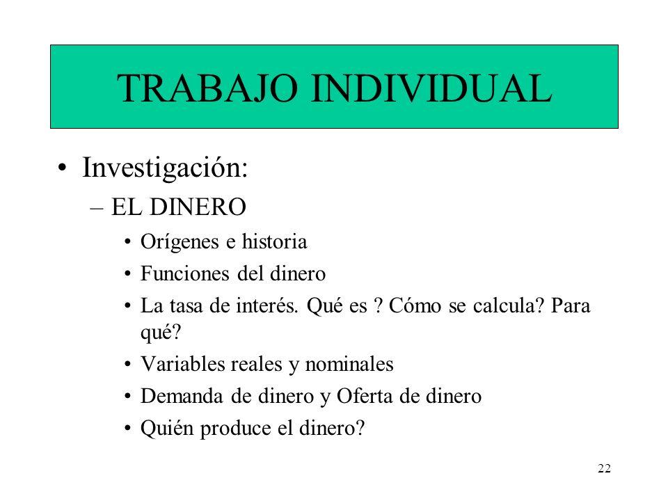 23 Trabajo Individual Máximo: 10 hojas Mínimo: 3 Bibliografías distintas.
