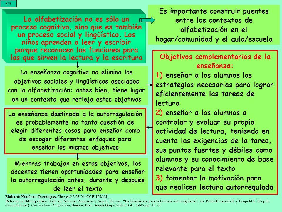 La alfabetización no es sólo un proceso cognitivo, sino que es también un proceso social y lingüístico. Los niños aprenden a leer y escribir porque re