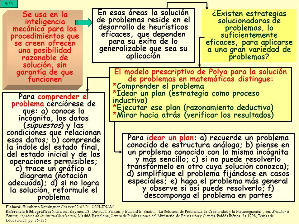 5/13 Se usa en la inteligencia mecánica para los procedimientos que se creen ofrecen una posibilidad razonable de solución, sin garantía de que funcio