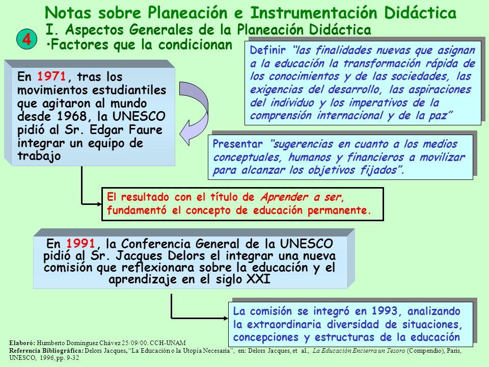 La comisión se integró en 1993, analizando la extraordinaria diversidad de situaciones, concepciones y estructuras de la educación Elaboró: Humberto D