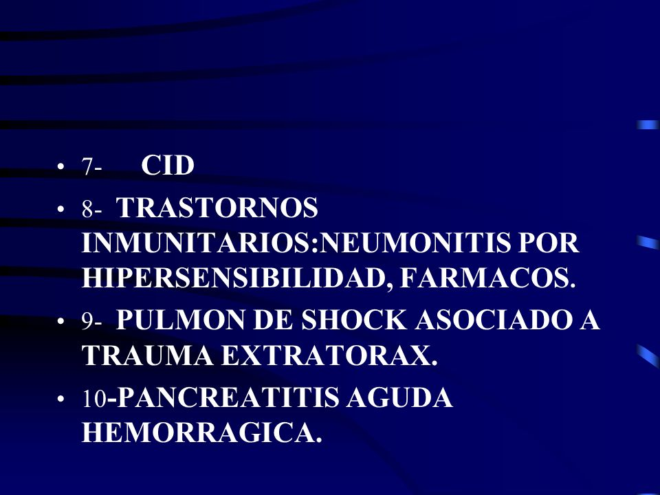 III- INSUFICIENCIA LINFATICA 1- DESPUES DE TRANSPLANTE PULMONAR.