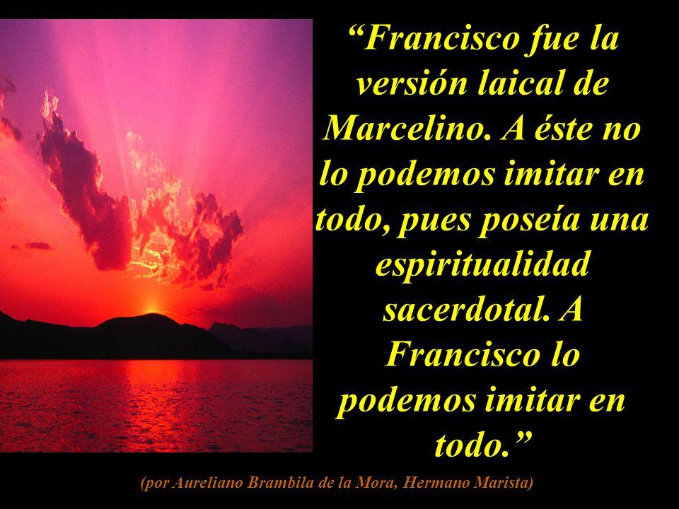 Si es importante el momento inicial, no lo es menos el siguiente. Marcelino y sus primeros discípulos no agotaron el carisma. El caudal de un río está