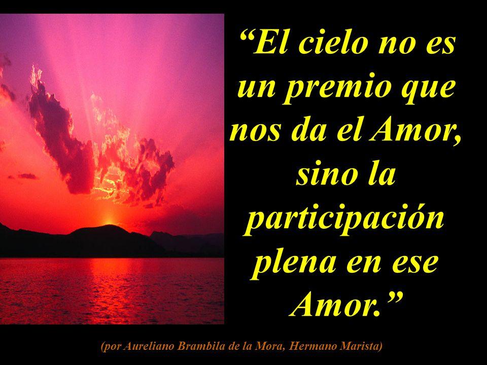 El cielo no es un premio que nos da el Amor, sino la participación plena en ese Amor.