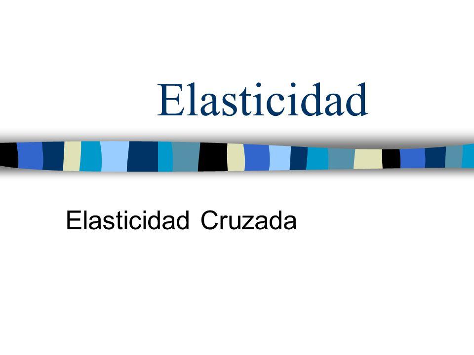 Elasticidad Elasticidad Cruzada