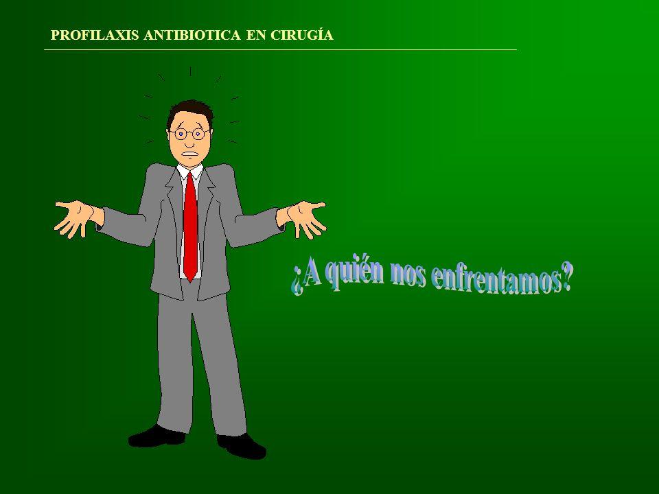 PATÓGENOS EN LA HERIDA QUIRÚRGICA: S.Aureus17% Enterococos13% Estafil.