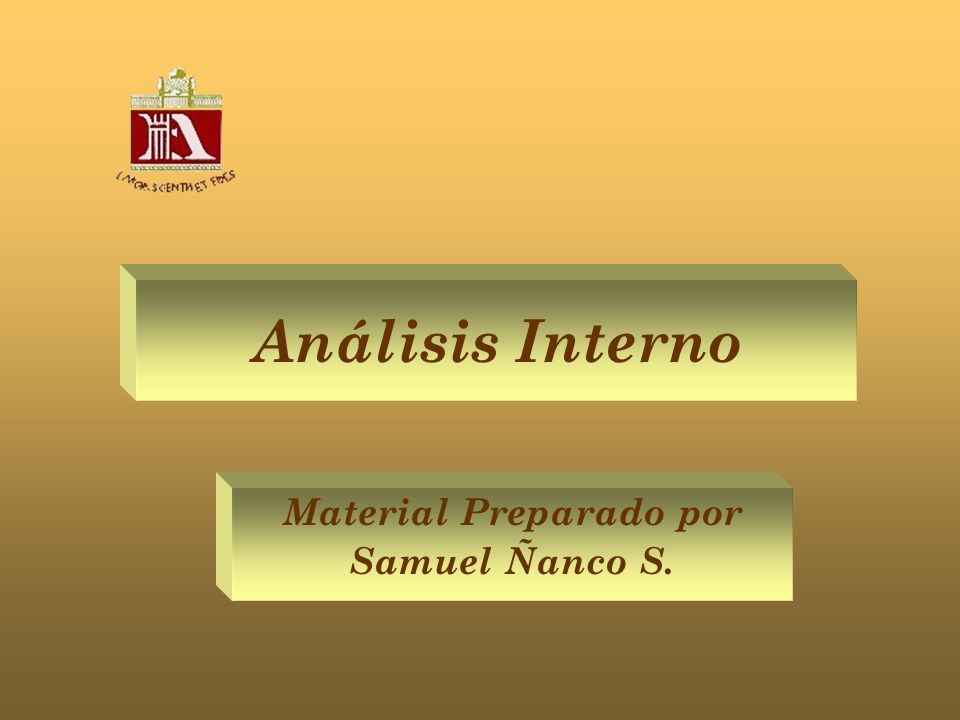 Análisis Interno Material Preparado por Samuel Ñanco S.