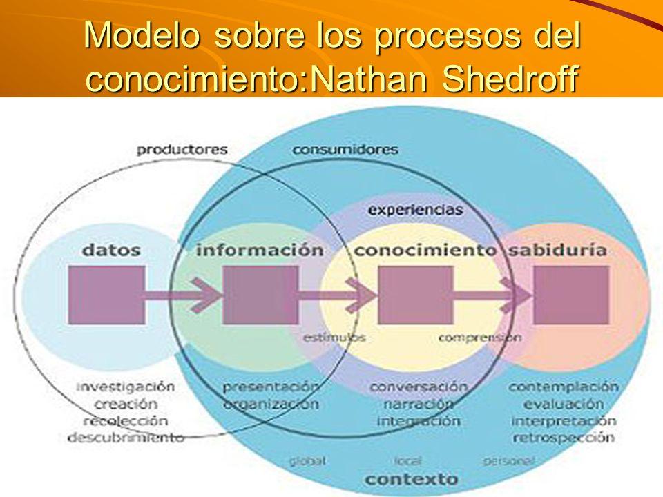 M. Sc. Iván E. Salvador isalvador22@gmail.com Modelo sobre los procesos del conocimiento:Nathan Shedroff