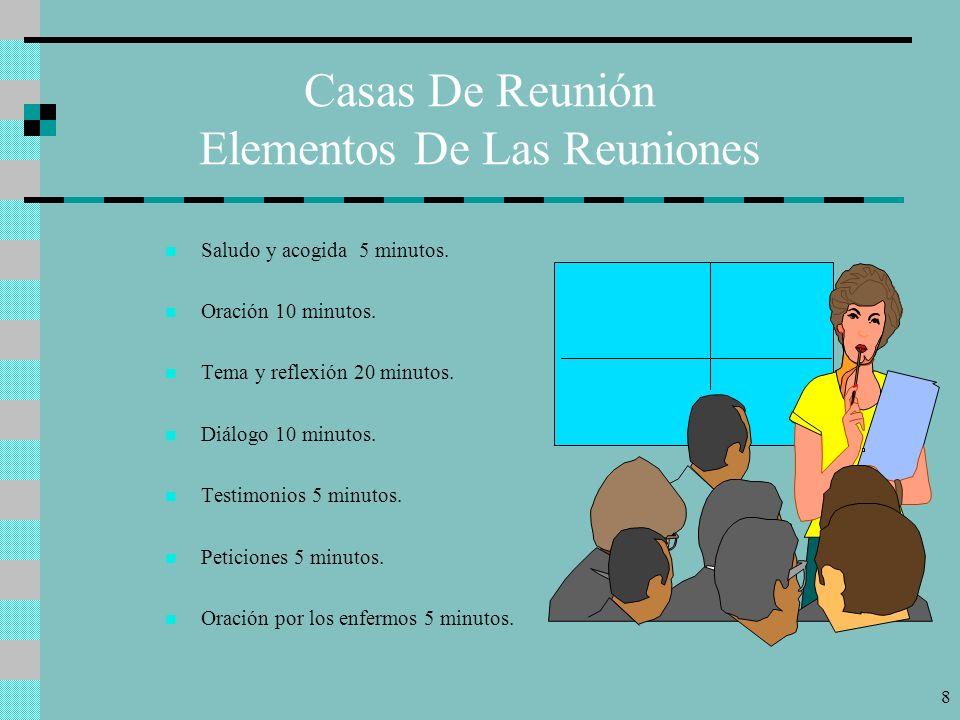 7 Casas De Reunión Consideraciones Prácticas Ubicación. Tanto durante la Misión como fuera de ella, es necesario que los hogares seleccionados como ca