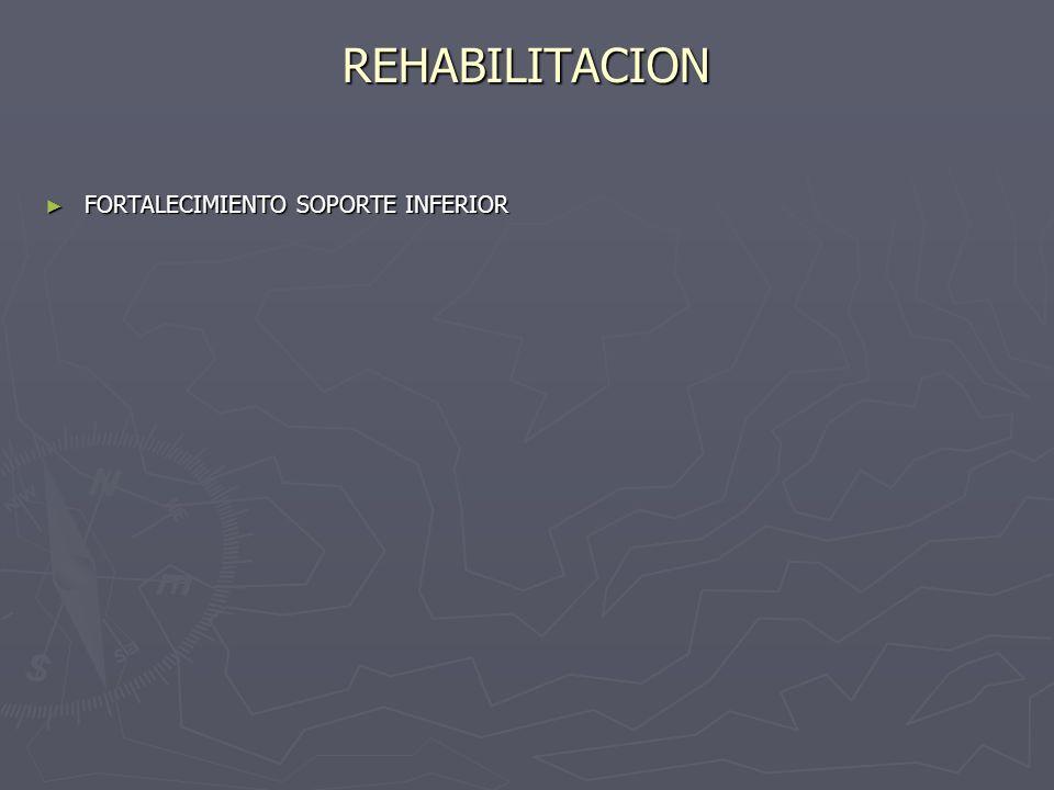 REHABILITACION FORTALECIMIENTO SOPORTE INFERIOR FORTALECIMIENTO SOPORTE INFERIOR