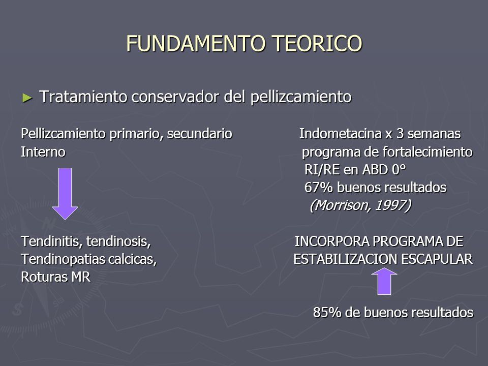 REHABILITACION REPOSICIONAMIENTO GLOBAL ESCAPULAR REPOSICIONAMIENTO GLOBAL ESCAPULAR LOW ROW LOW ROW Movimiento combinado, retraccion escapular/extension lumbar Facilitacion del trapecio inferior ESCAPULAR CLOCK ESCAPULAR CLOCK cadena cerrada Elevacion depresion (posicion 12/6) Retraccion/protraccion (posicion 3/9) Movimiento de integracion entre la columna y el hombro eliminando el Shrug (Voight, M.