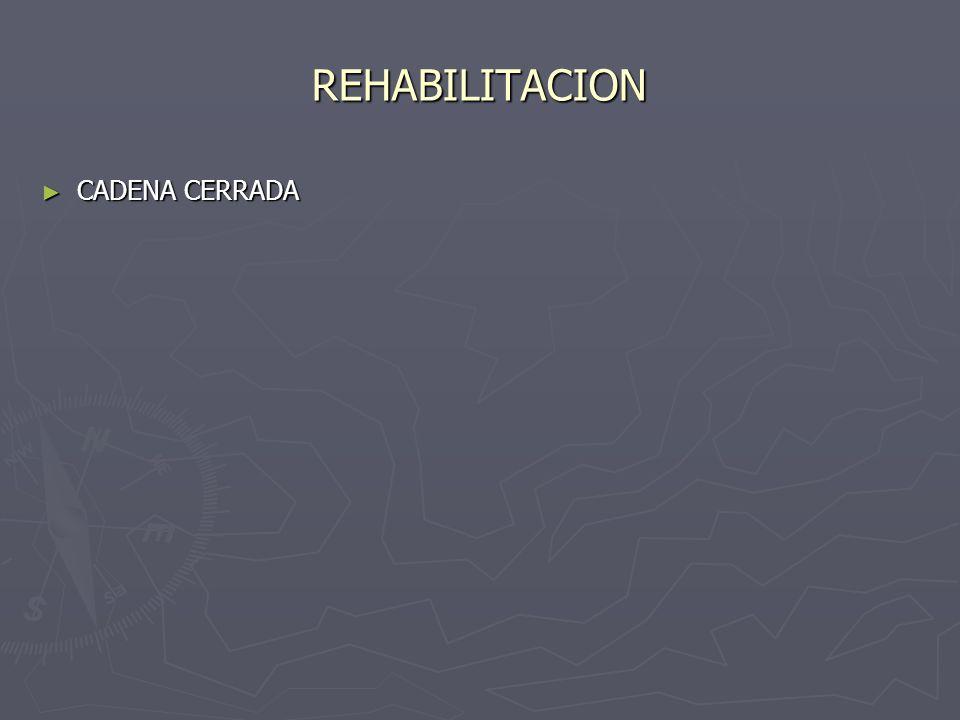 REHABILITACION CADENA CERRADA CADENA CERRADA