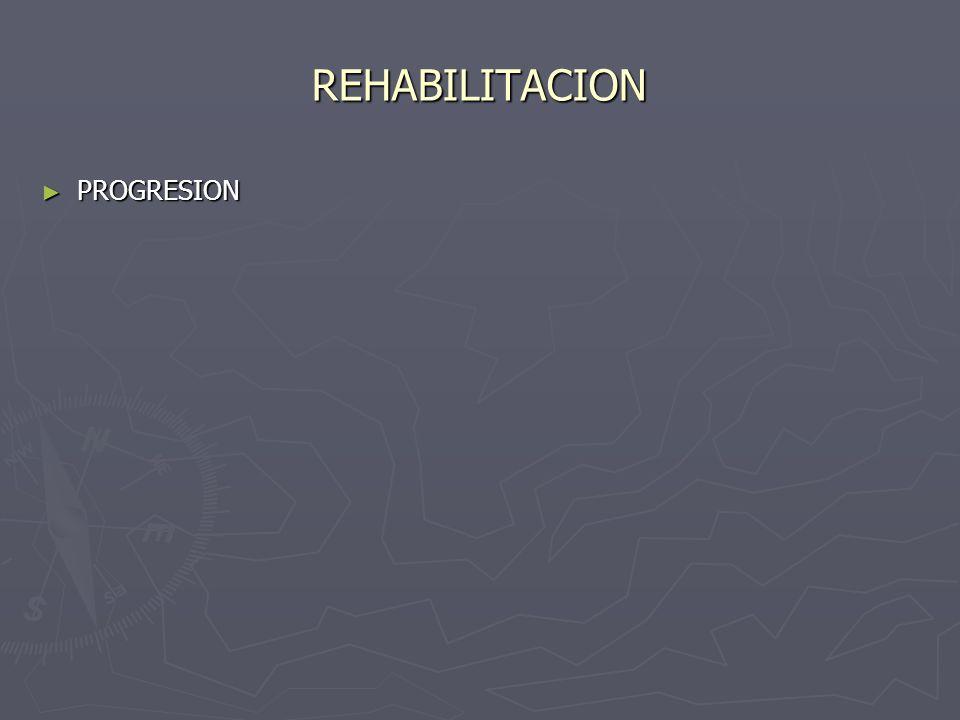 REHABILITACION PROGRESION PROGRESION