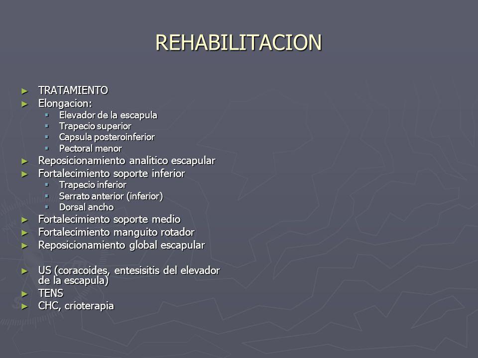 REHABILITACION REPOSICIONAMIENTO GLOBAL REPOSICIONAMIENTO GLOBALESCAPULAR PROTOCOLO DE BLACKBURN FORTALECIMIENTO DE RETRACTORES FORTALECIMIENTO DE RETRACTORES ESCAPULARES Y MR POSTERIOR ESCAPULARES Y MR POSTERIOR