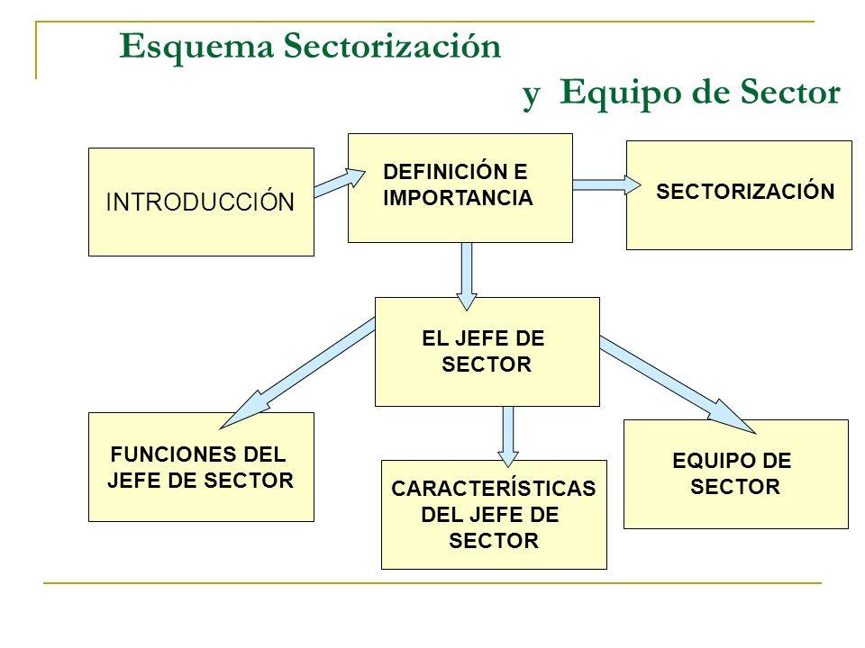 Índice de la Unidad VIII IntroducciónPág. 1 Definición e ImportanciaPág. 2 SectorizaciónPág. 3 Equipo de SectorPág. 7 El Jefe de SectorPág. 8 Funcione