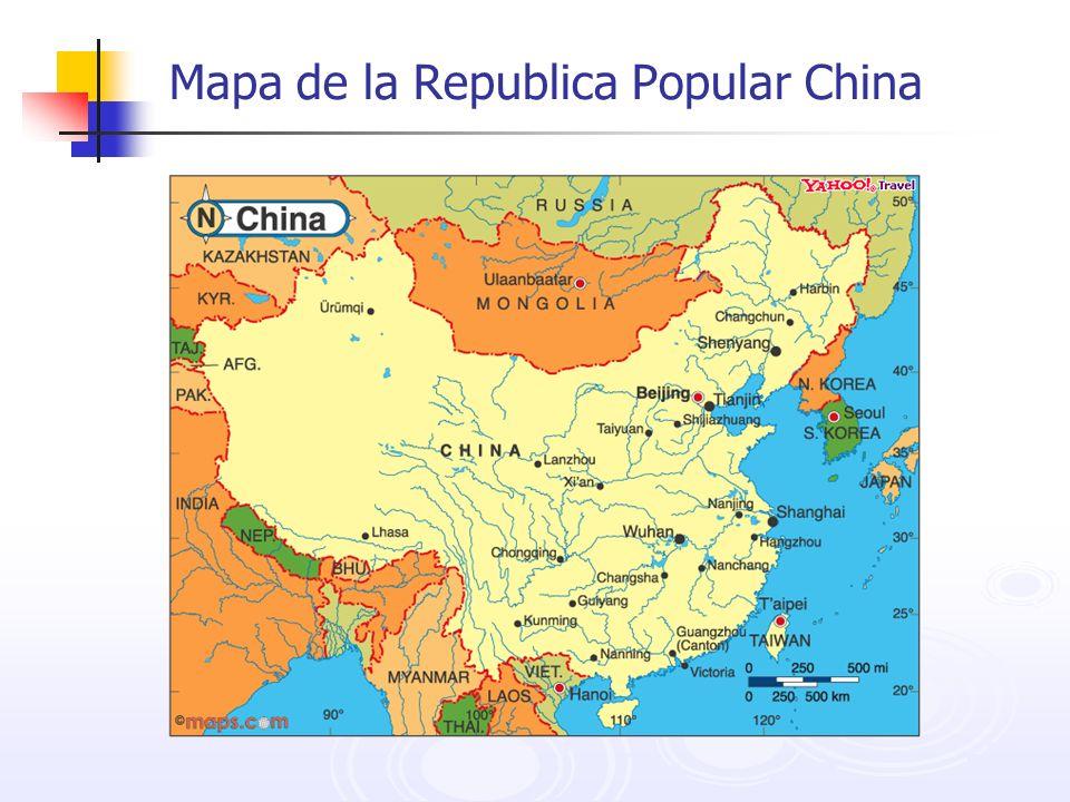Mapa de la Republica Popular China