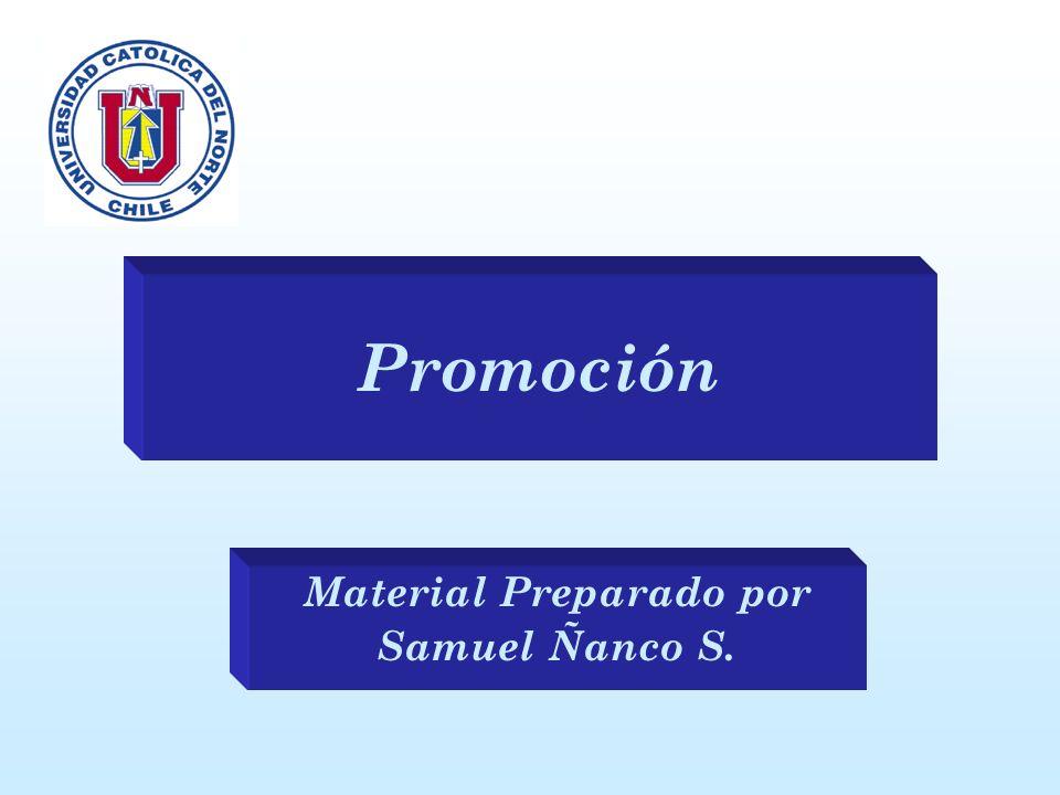 Promoción Material Preparado por Samuel Ñanco S.