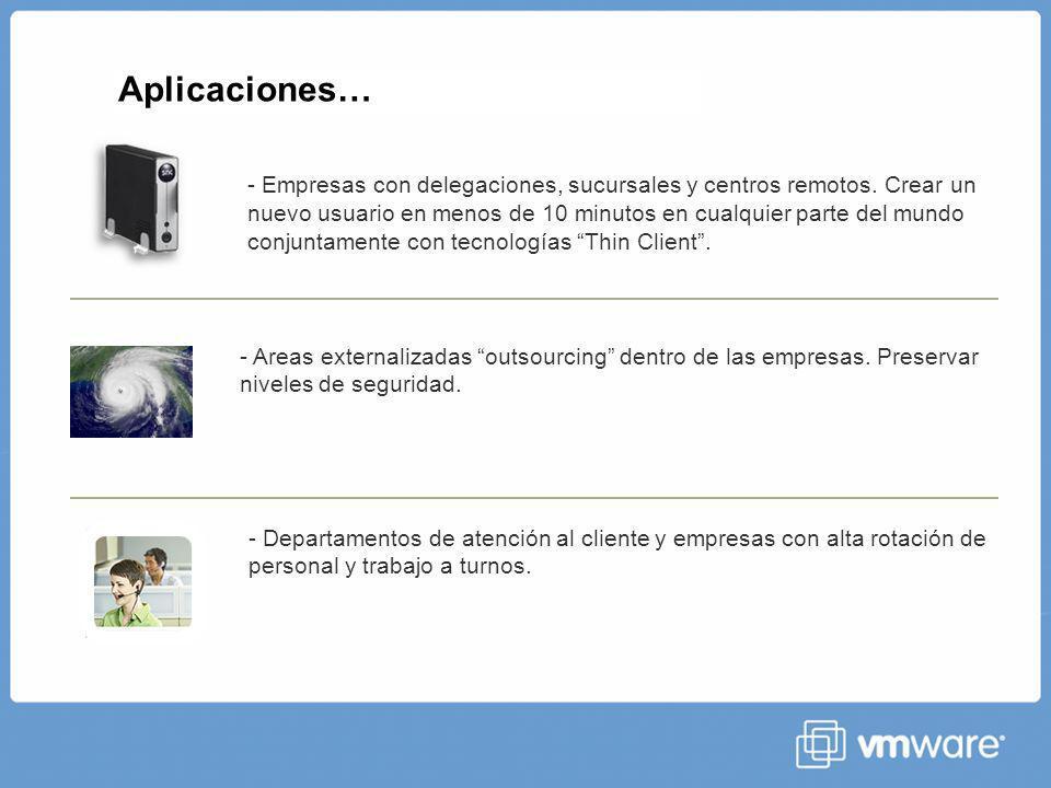 Aplicaciones… - Empresas con delegaciones, sucursales y centros remotos.