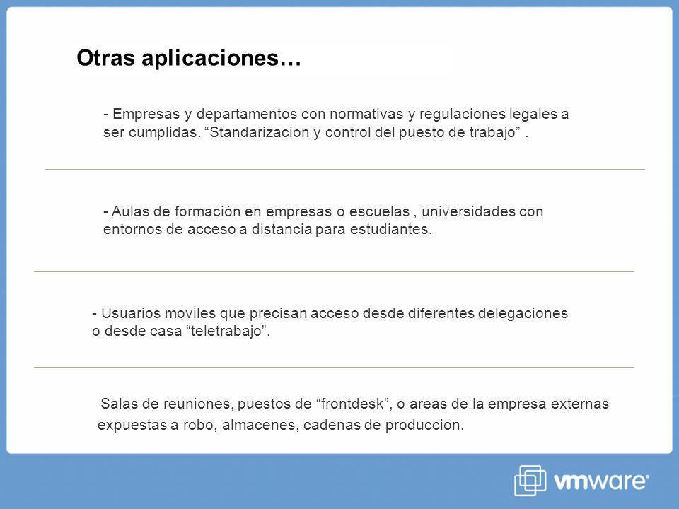 Otras aplicaciones… - Empresas y departamentos con normativas y regulaciones legales a ser cumplidas.