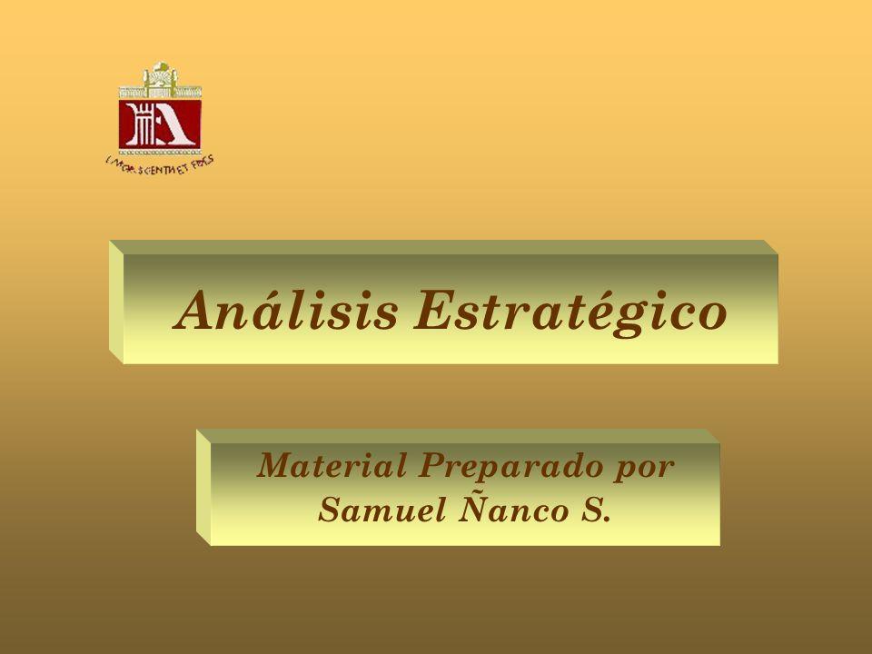 Análisis Estratégico Material Preparado por Samuel Ñanco S.