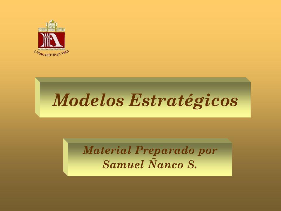 Modelos Estratégicos Material Preparado por Samuel Ñanco S.
