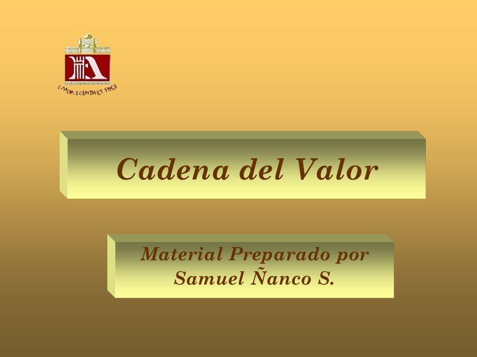 Cadena del Valor Material Preparado por Samuel Ñanco S.
