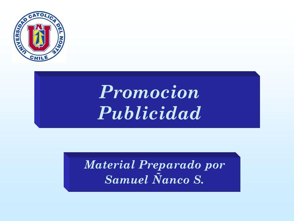 Promocion Publicidad Material Preparado por Samuel Ñanco S.