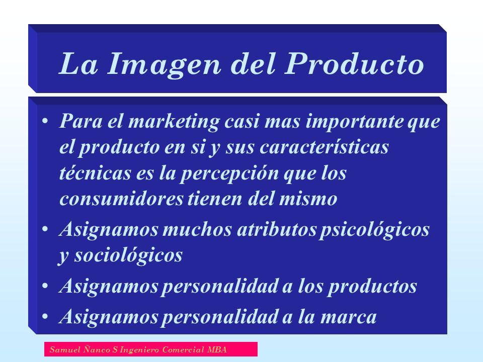 La Imagen del Producto Para el marketing casi mas importante que el producto en si y sus características técnicas es la percepción que los consumidore