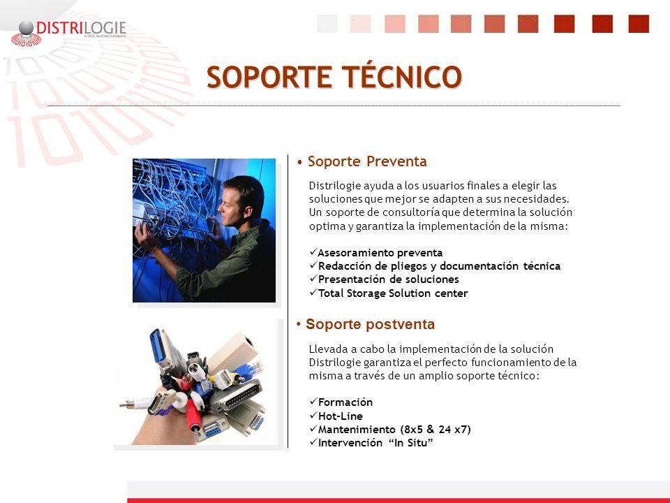 SOPORTE TÉCNICO Soporte Preventa Distrilogie ayuda a los usuarios finales a elegir las soluciones que mejor se adapten a sus necesidades. Un soporte d