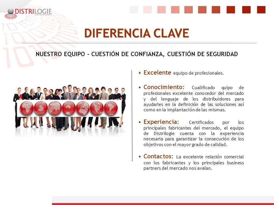 NUESTRO EQUIPO – CUESTIÓN DE CONFIANZA, CUESTIÓN DE SEGURIDAD DIFERENCIA CLAVE Excelente equipo de profesionales. Conocimiento: Cualificado quipo de p