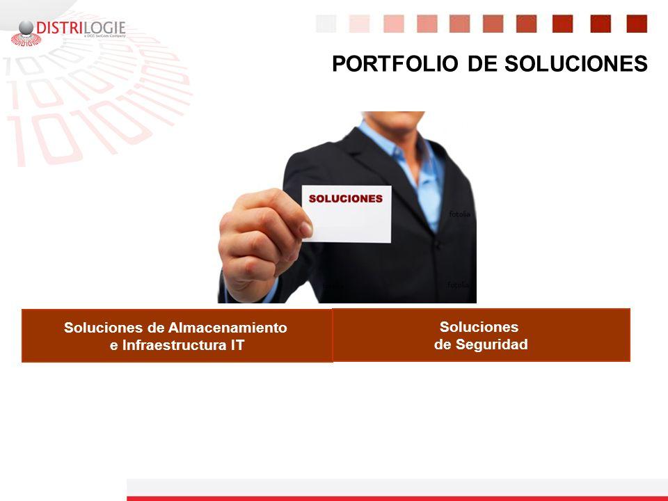 PORTFOLIO DE SOLUCIONES Soluciones de Almacenamiento e Infraestructura IT Soluciones de Seguridad