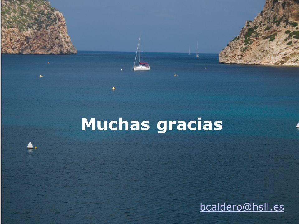 Muchas gracias bcaldero@hsll.es