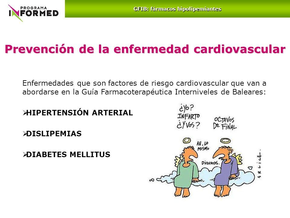 Prevención de la enfermedad cardiovascular Enfermedades que son factores de riesgo cardiovascular que van a abordarse en la Guía Farmacoterapéutica In
