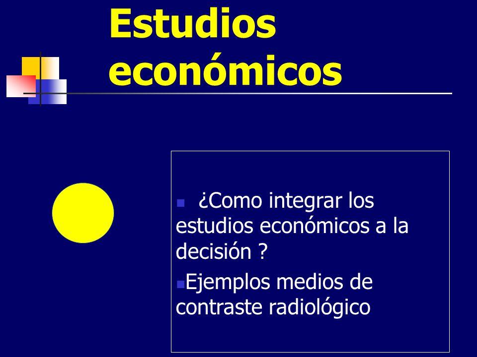 Estudios económicos ¿Como integrar los estudios económicos a la decisión .