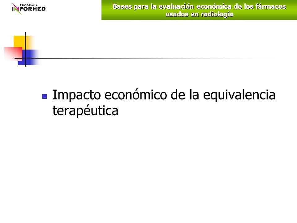 Impacto económico de la equivalencia terapéutica Bases para la evaluación económica de los fármacos usados en radiología