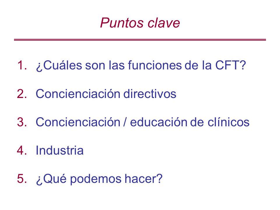 Puntos clave 1.¿Cuáles son las funciones de la CFT.