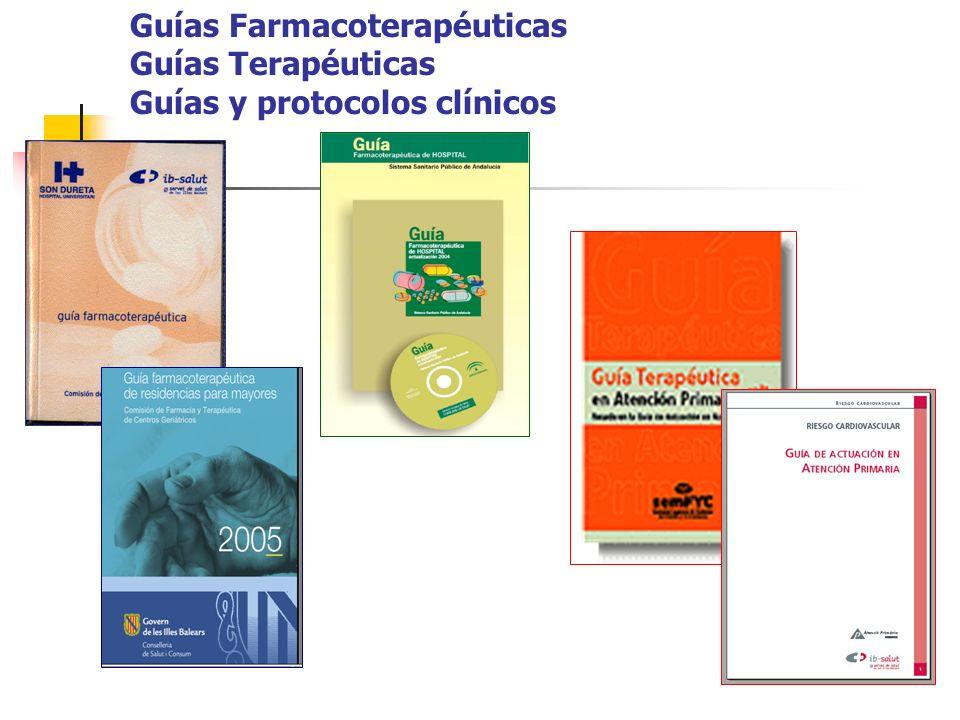 Guías Farmacoterapéuticas Guías Terapéuticas Guías y protocolos clínicos