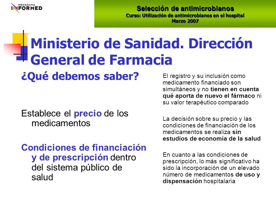Selección de antimicrobianos Curso: Utilización de antimicrobianos en el hospital Marzo 2007