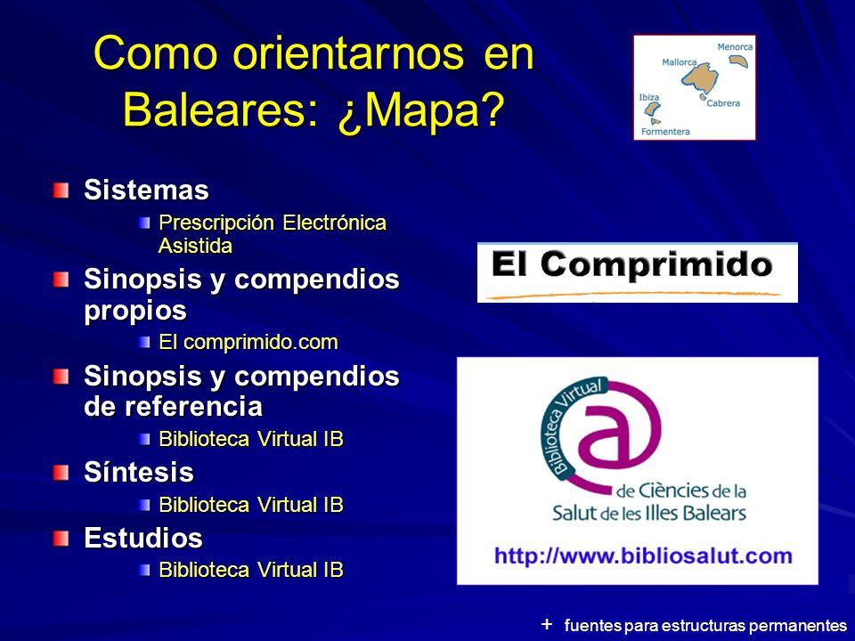 Como orientarnos en Baleares: ¿Mapa.