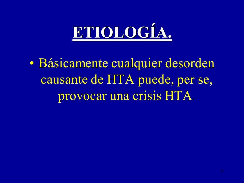 10 ETIOLOGÍA.Hipertensión esencial. Hipert. renovascular.