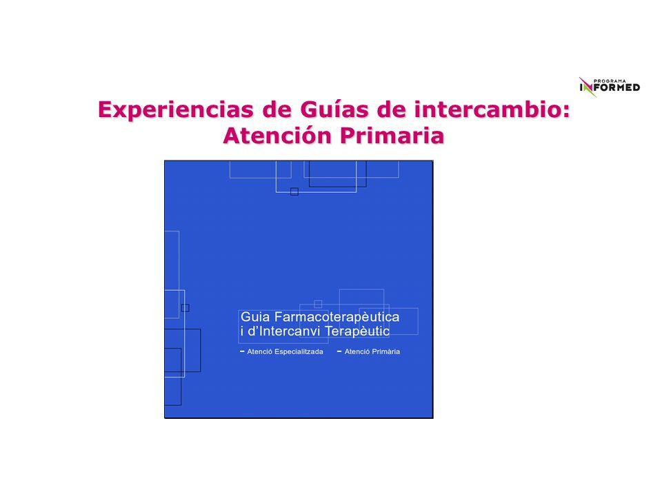Experiencias de Guías de intercambio: Atención Primaria