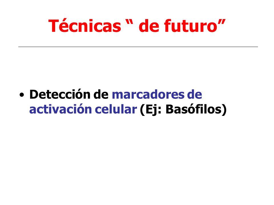 Técnicas de futuro Detección de marcadores de activación celular (Ej: Basófilos)