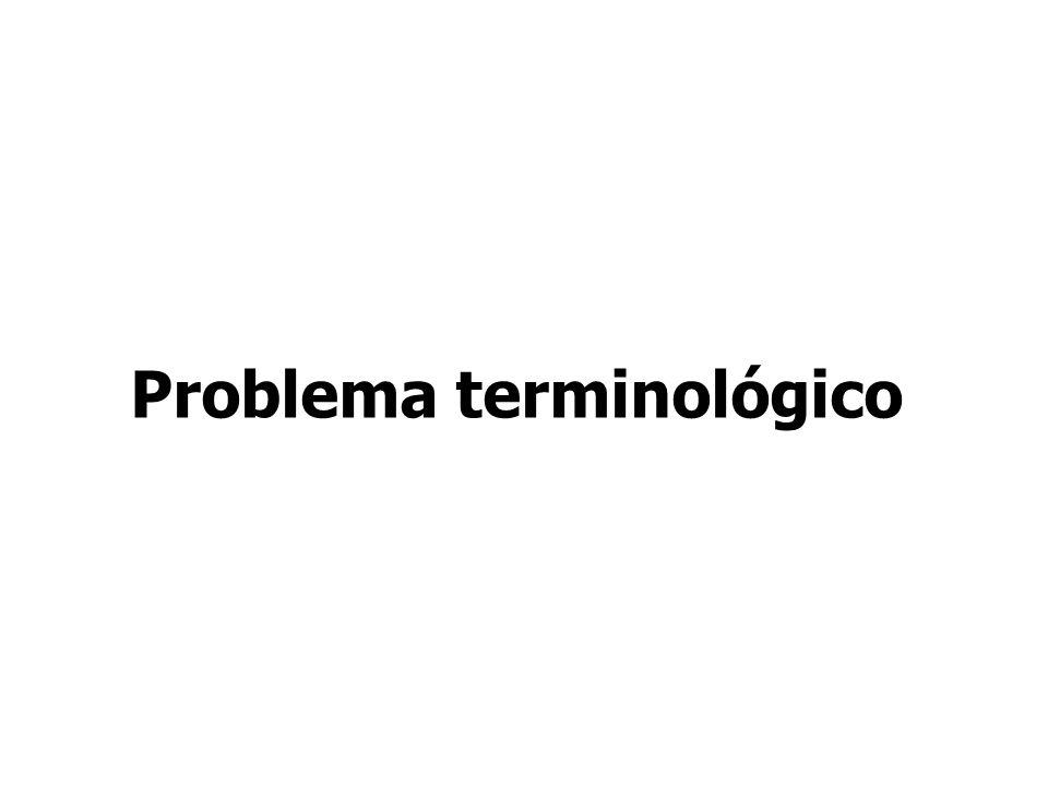 Problema terminológico