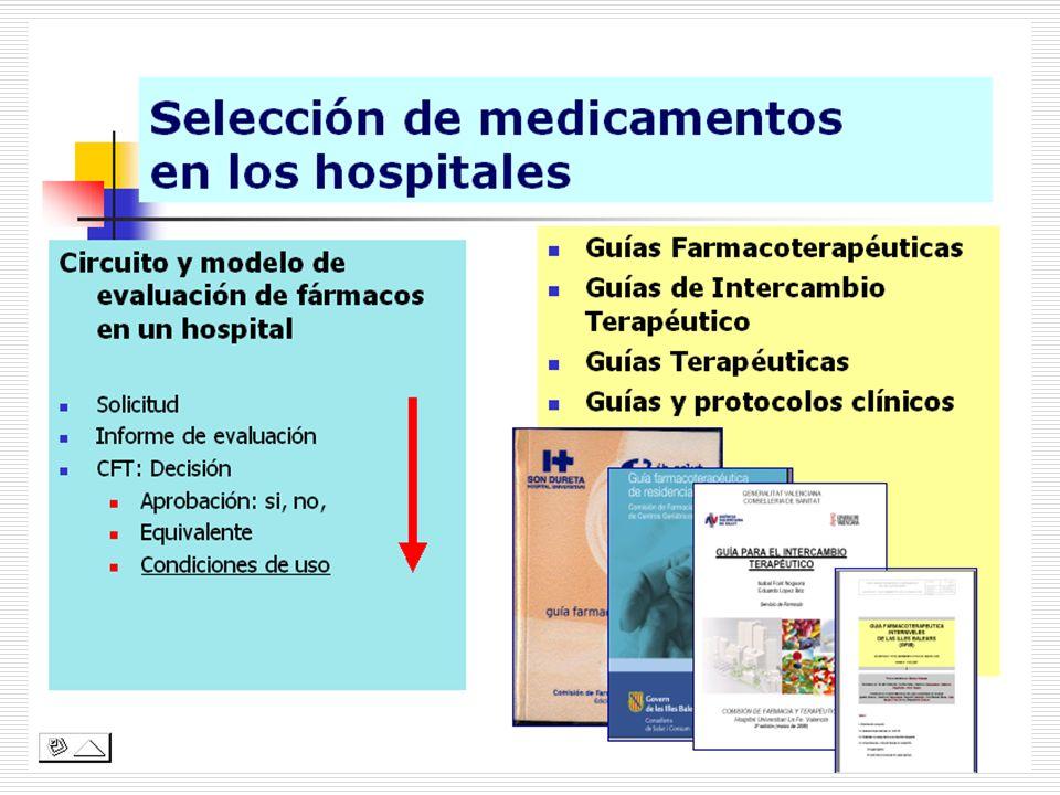 Modelo de solicitud para incorporar un medicamento al hospital 200 hospitales Dic 2007-Ene 2008 -El 95,5% de los hospitales tienen establecido un modelo formal de solicitud de inclusi ó n.