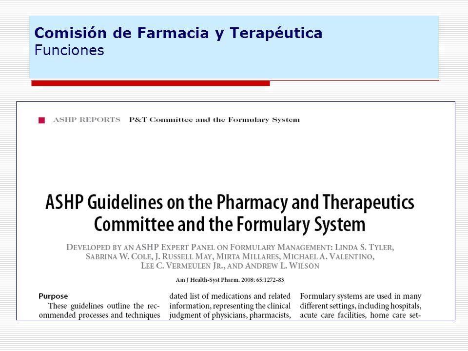 Proyecto de investigación Génesis FIS 2007-2009 Situación actual de la estructura, proceso y resultados de la selección de medicamentos en los hospitales españoles.